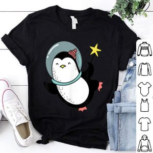 Beautiful Penguin Astronaut In Space Christmas Gift Outfit sweater