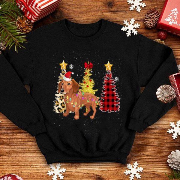 Beautiful Santa Dachshund Christmas Tree Lights shirt