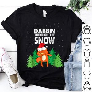 Beautiful Ugly Christmas Fox Dabbing Through The Snow shirt