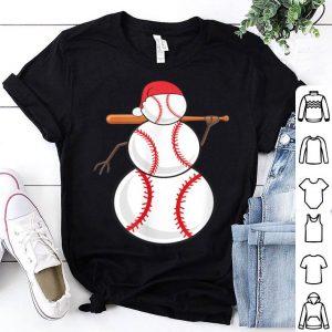 Beautiful Xmas Baseball Player Athlete Christmas Snowman Sports Coach sweater