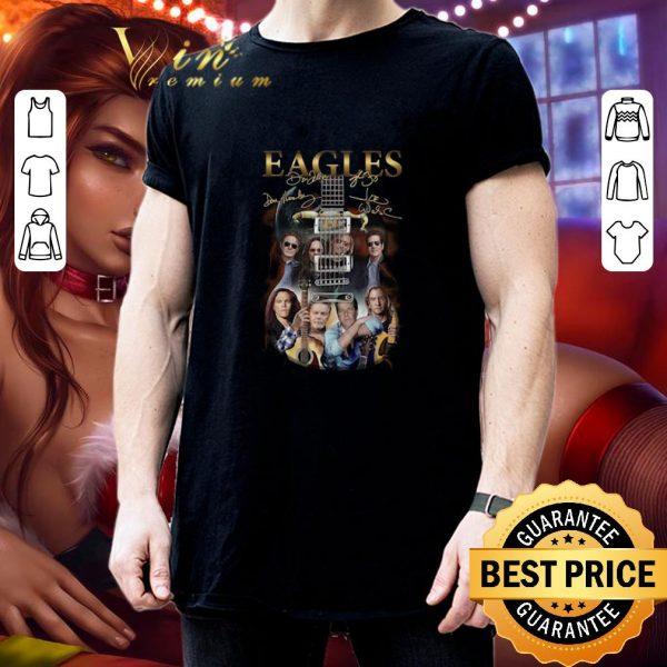 Cool Eagles guitarist signatures shirt