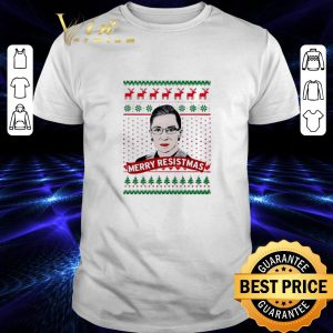 Cool Ruth Bader Ginsburg Merry Resistmas Christmas shirt