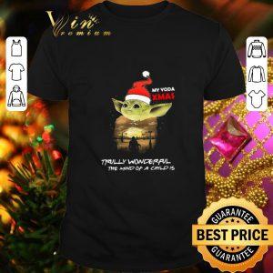Cool Santa Yoda My Yoda Xmas Trully Wonderful The Mind Of A Child Is shirt