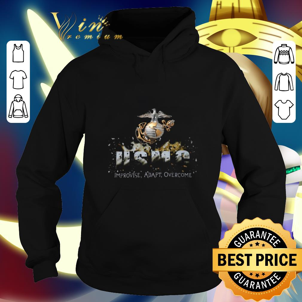 Cool Semper Fi USMC improvise adapt overcome shirt 4 - Cool Semper Fi USMC improvise adapt overcome shirt