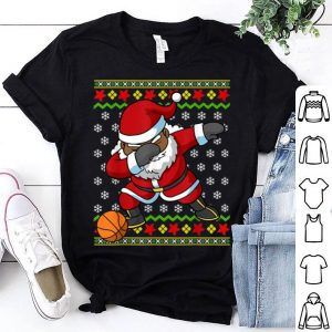 Hot Christmas African American Black Santa Basketball Gift shirt