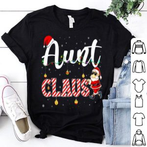 Hot Cute Christmas Aunt Santa Hat Gift Matching Family Xmas shirt