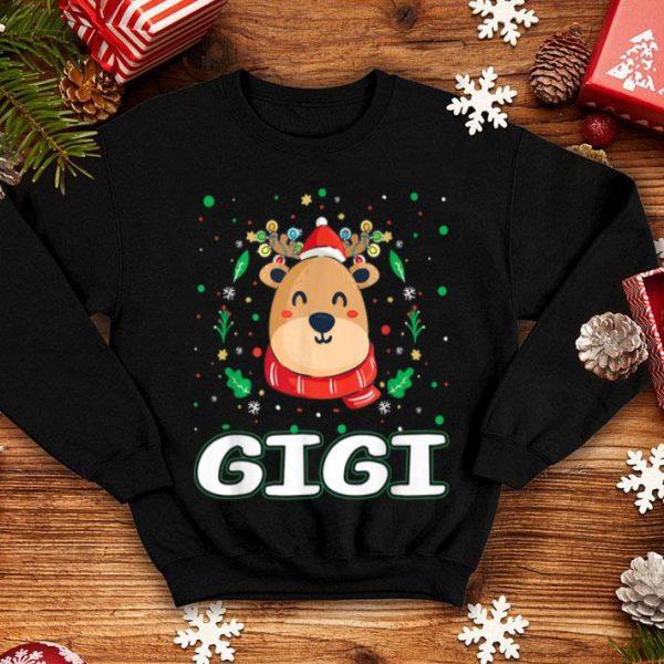 Hot Cute Gigi Reindeer Santa Ugly Christmas Family Matching shirt