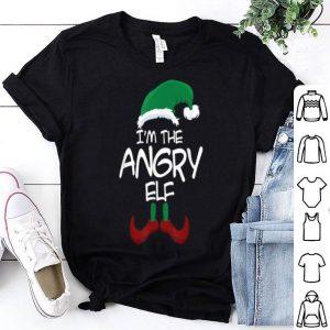 Hot I'm The Angry Elf Christmas Family Elf Costume shirt