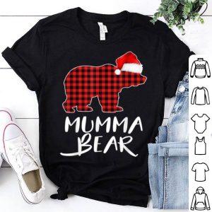 Hot Mumma BEAR Red Plaid Christmas Pajama Matching Family Gift shirt