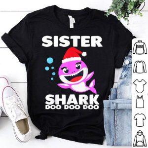 Hot Sister Shark Doo Doo Christmas for Family Pajamas shirt