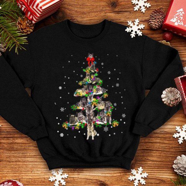 Nice Cute Norwegian Elkhound dog Christmas Tree gift decor Xmas shirt