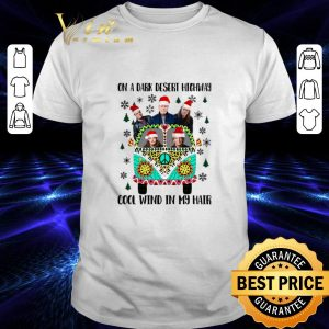Nice Eagles on a dark desert highway cool wind in my hair Christmas shirt
