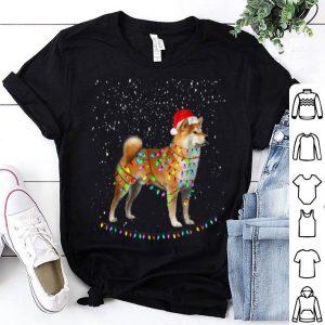 Nice Funny Merry Shiba Inu Santa Hat Christmas Dog Gift shirt
