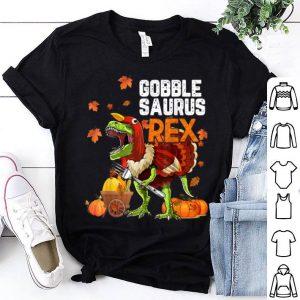 Nice Happy Thanksgiving Gobble Saurus Rex Turkey Costume Kid Gift shirt