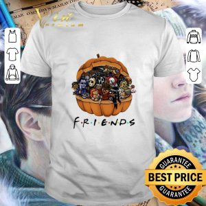 Nice Horror characters Chibi in pumpkin Friends shirt