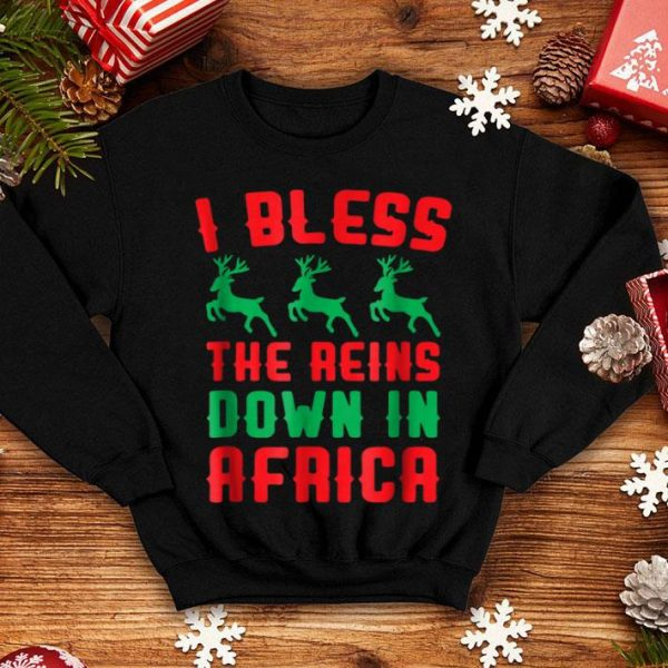 Nice I Bless The Reins Down In Africa Funny Christmas sweater