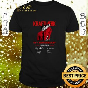 Nice Kraftwerk 51th anniversary 1969-2020 signatures shirt