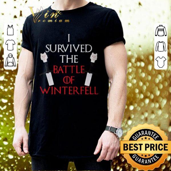 Nice Longclaw of Jon Snow i survived the battle of Winterfell GOT shirt