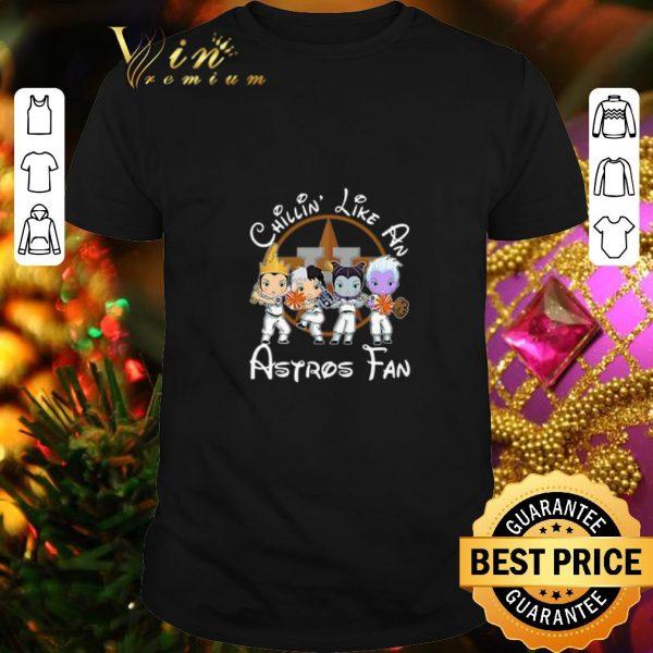 Nice Maleficent Chillin' like a Houston Astros fan shirt