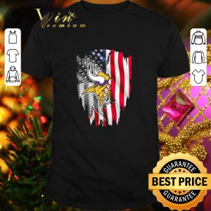 Nice Minnesota Vikings American flag shirt