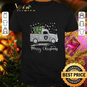 Nice Oakland Raiders Truck Merry Christmas shirt