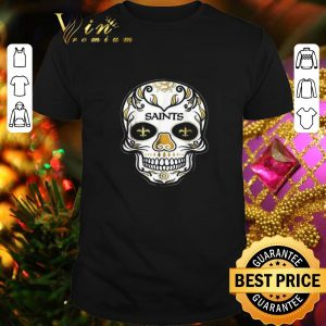 Nice Sugar Skull New Orleans Saints shirt