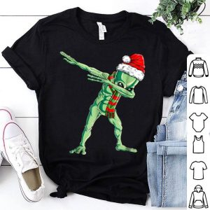 Official Dabbing Alien Santa Christmas Boys Kids Girls Gifts shirt