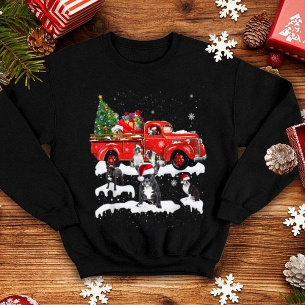 Official French Bulldog Riding Red Truck Xmas Merry Christmas Gifts shirt