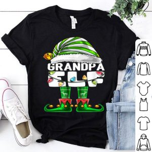 Official Mens Grandpa Elf Matching Family Christmas Elf Costume Gift Men shirt