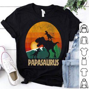 Official Papasaurus Papa Gift From Daughter Son-Birthday Christmas shirt