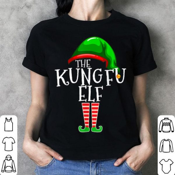 Official The Kung Fu Elf Group Matching Family Christmas Gift Outfit shirt