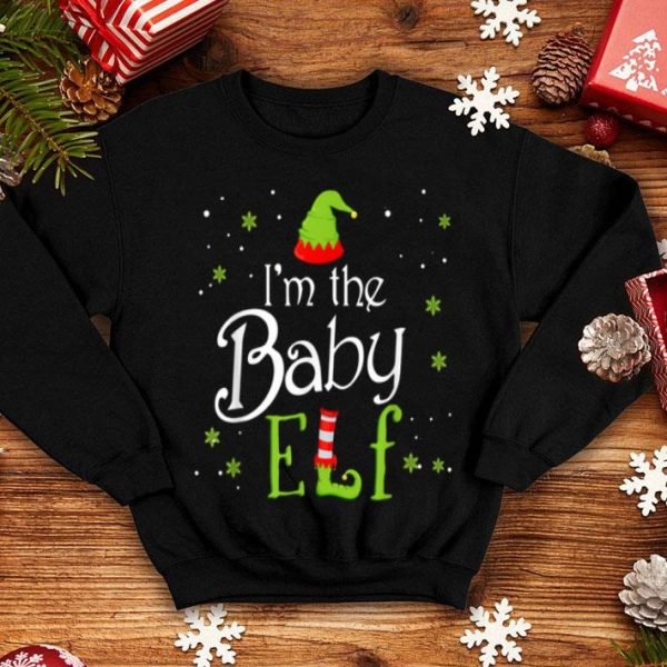 Original I'm The Baby Elf Xmas Group Matching Family Christmas Gift shirt