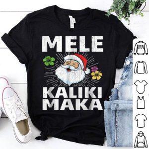 Pretty Christmas Mele Kalikimaka Santa Hawaii shirt