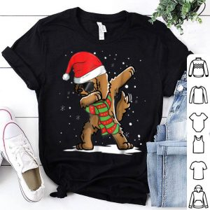 Pretty Dabbing Goldendoodle Santa Christmas Dog Lovers sweater