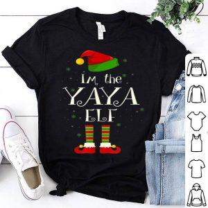 Pretty I'm The Yaya Elf Matching Family Group Christmas Funny shirt
