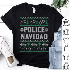 Pretty Police Navidad Christmas Gift For Police Officers shirt