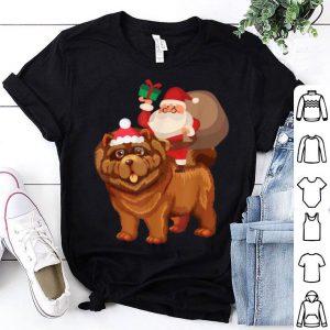Pretty Santa Riding Chow Chow Christmas Pajama Gift shirt