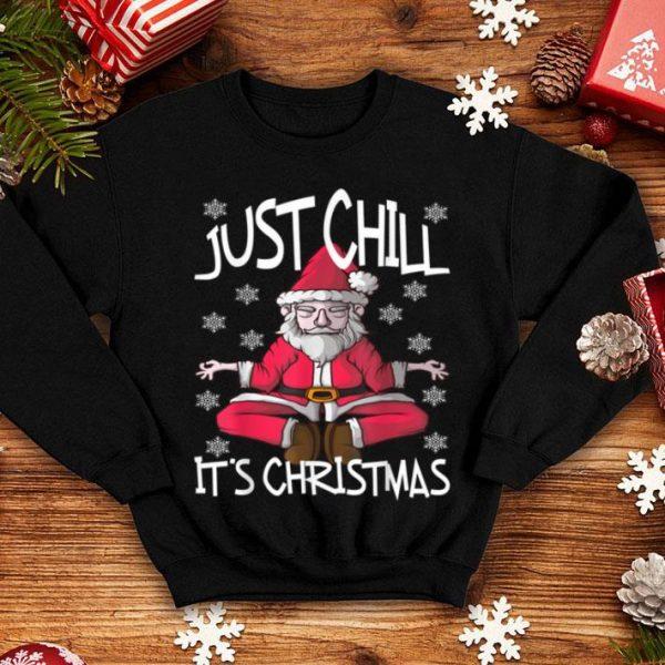 Pretty Yoga Santa Claus Christmas Snowflakes Nice Cute Funny shirt