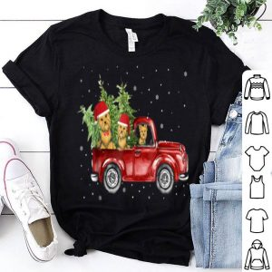 Pretty Yorkie Dog Pickup Truck Christmas shirt