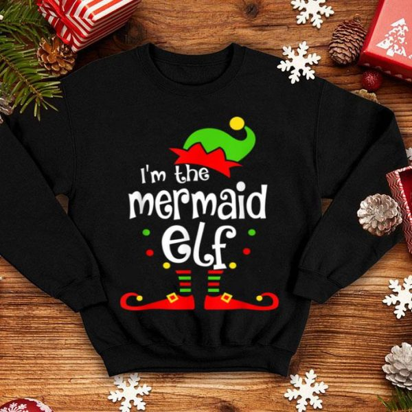 Top I'm The Mermaid ELF Christmas Xmas Funny Matching Squad Gift sweater