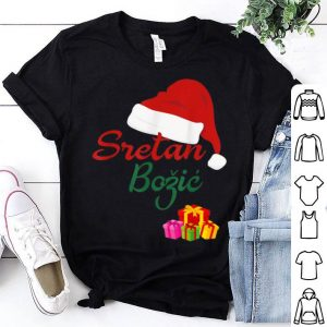 Top Merry Christmas Sretan Bozic Hrvatski Croatian Gift Hrvatska shirt