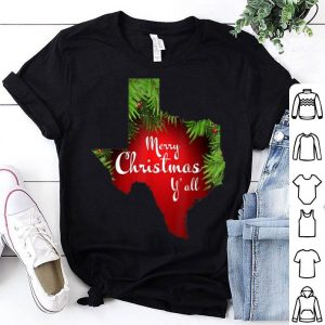 Top Texas Christmas - Merry Christmas Y'all Xmas Pajama shirt