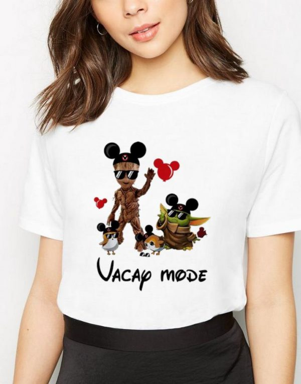 Awesome Mickey Mouse Baby Yoda And Baby Groot Vacay Mode shirt