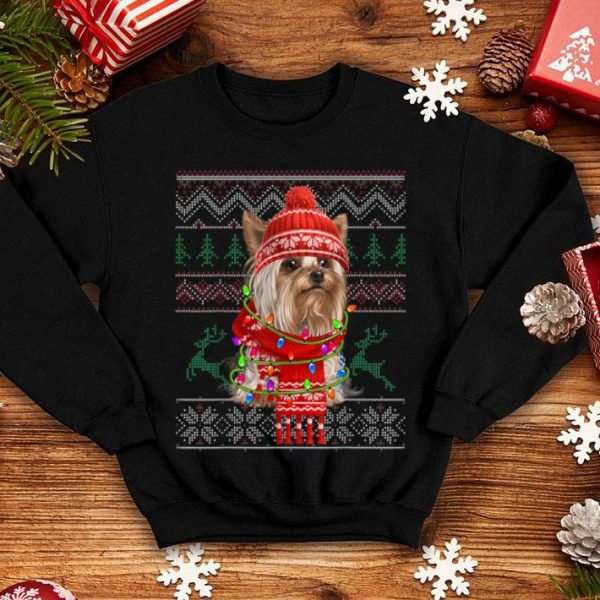 Awesome Yorkie Ugly Sweater Christmas Gift For Dog Lover sweater