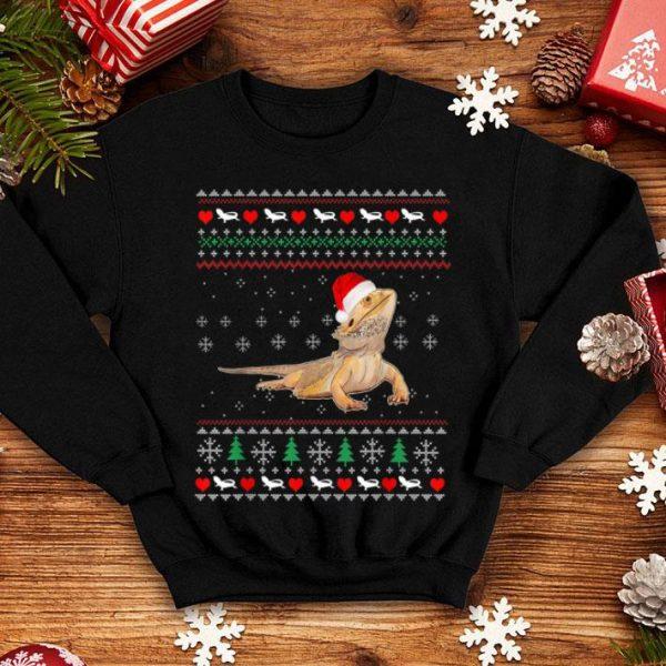Beautiful Christmas Ugly Bearded Dragon Smiling Pet Lizard sweater