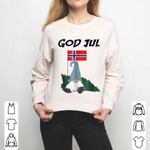 Beautiful God Jul Norwegian Gnome Merry Christmas Norway Tee sweater