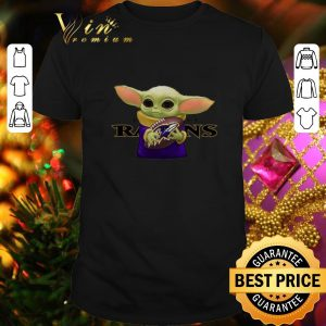 Cool Baby Yoda hug Baltimore Ravens shirt