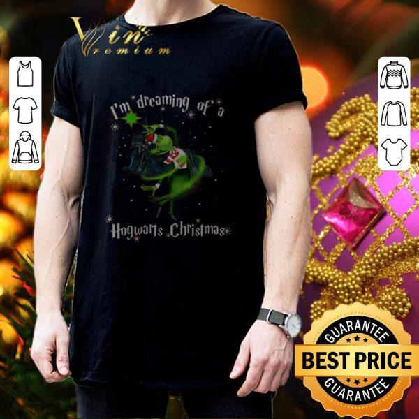 Cool Grinch I'm A Dreaming Of A Hogwart Christmas shirt