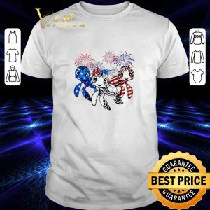 Cool Turtle Red white and blue America flag shirt