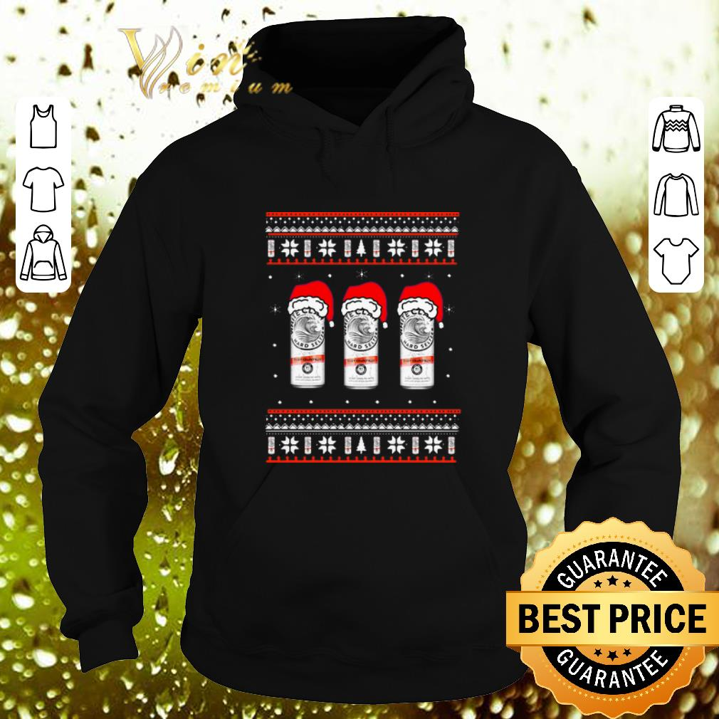 Cool White Claw Hard Seltzer Santa hat Ugly Christmas sweater 4 - Cool White Claw Hard Seltzer Santa hat Ugly Christmas sweater